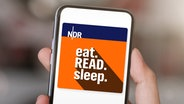 "Logo vom Podcast ""eat.READ.sleep"" © Neil Godding/Unsplash"