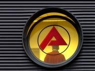 Scheibe mit dem Logo der Bundesagentur für Arbeit © Franz-Peter Tschauner/dpa- Bildfunk Fotograf: Franz-Peter Tschauner