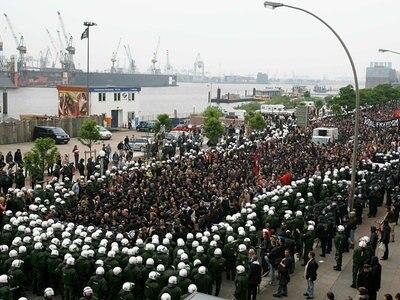 Protest gegen den Asem-Gipfel, Hamburg.