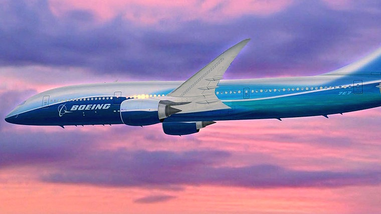 Eine Boeing 787 Dreamliner (Animation) © dpa/picture alliance