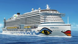 Eine Computergrafik des AIDAprima. © AIDA Cruises