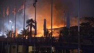"Feuer im Beachclub ""Hamburg del mar"". © Screenshot TV News Kontor"