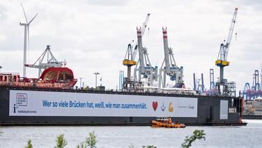 Schwimmdock 11 der Hamburger Werft Blohm+Voss. | picture alliance/dpa