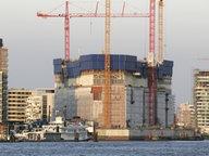 Die Baustelle der Elbphilharmonie in Hamburg © dpa Fotograf: Tobias Kleinschmidt