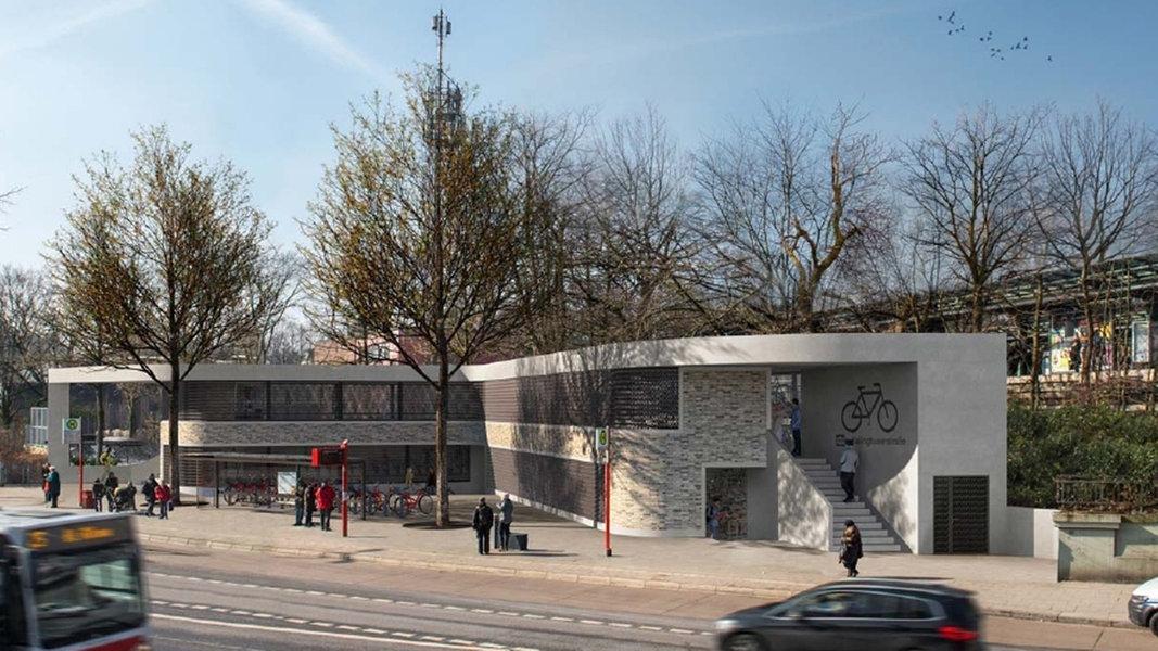 eppendorf bekommt zweist ckiges fahrrad parkhaus nachrichten hamburg. Black Bedroom Furniture Sets. Home Design Ideas