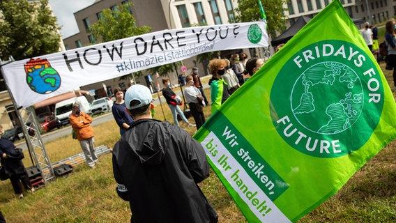 Teilnehmer einer Aktion der Klimabewegung