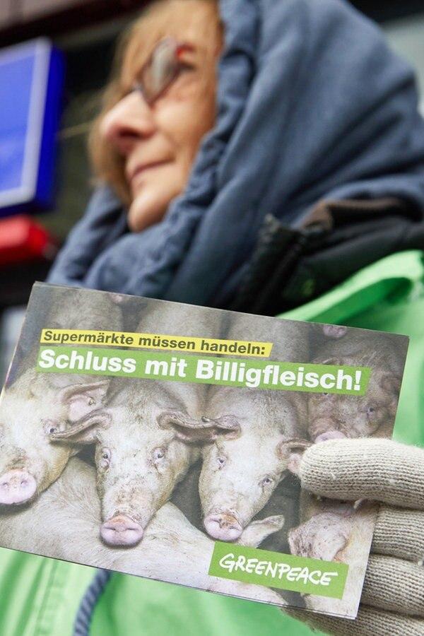 Greenpeace-Protestaktion gegen Billigfleisch