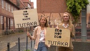"Franziska Altenrath und Alexandra Herget vom Start-Up ""Tutaka"". © NDR Foto: Screenshot"