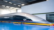 Die Kapsel der Hyperloop Transportation Technologies. © picture alliance