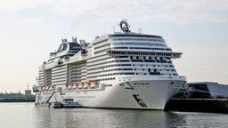"Die ""MSC Meraviglia"" zu Gast in Hamburg. © NDR Foto: Zeljko Todorovic"