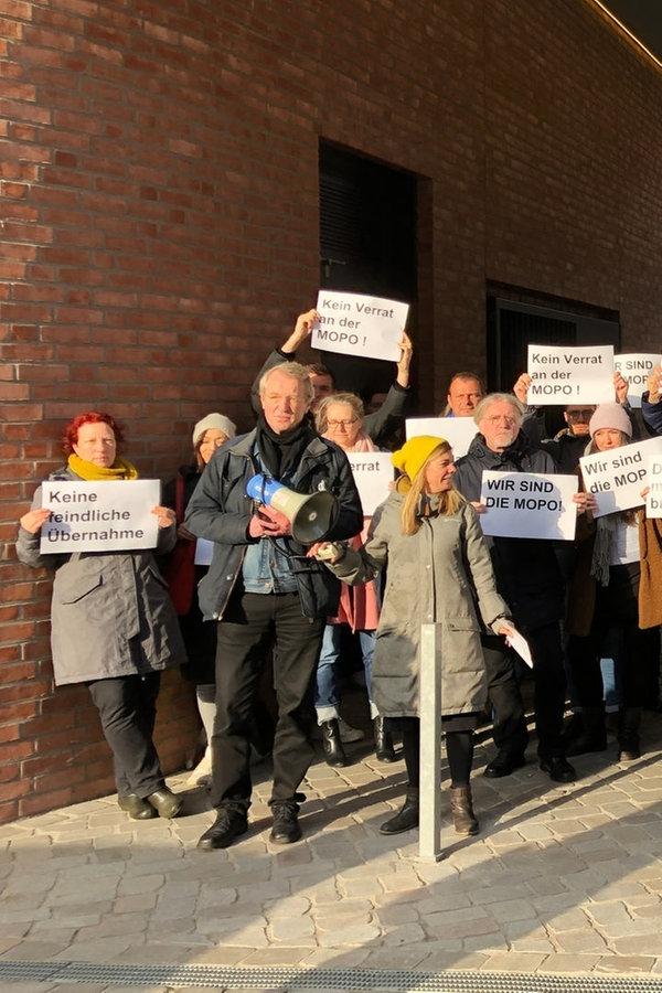"""Protest für Erhalt der """"Hamburger Morgenpost"""""""