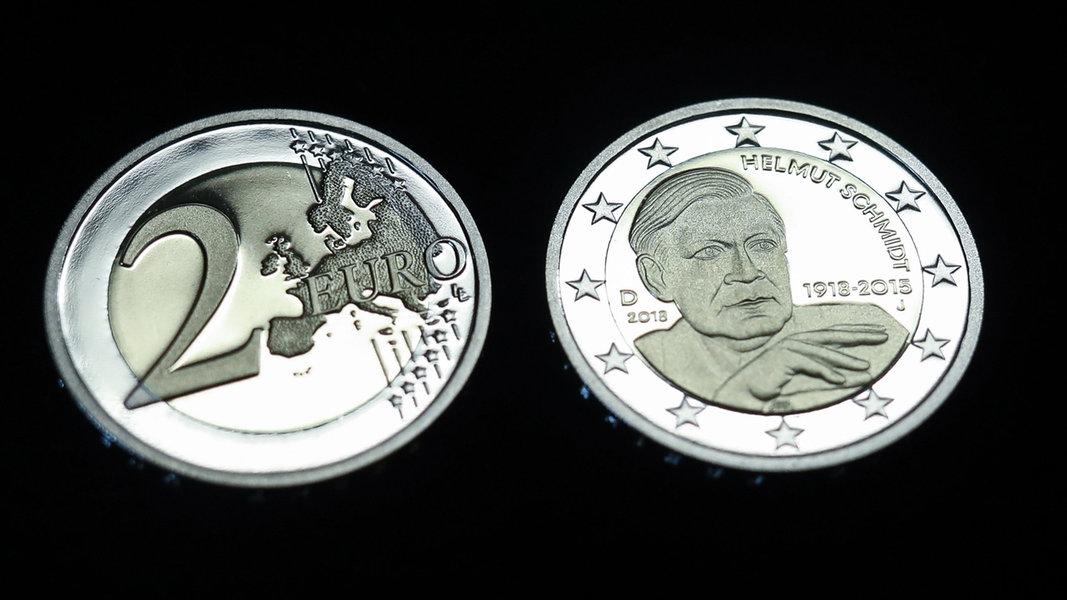 Neue Zwei Euro Münze Mit Helmut Schmidt Ndrde Nachrichten Hamburg