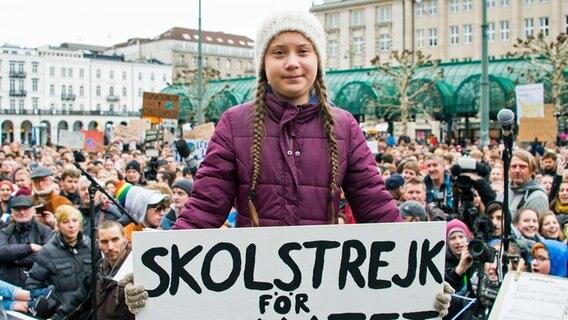 Demo mit 20 000 Unterstützern: Greta-Alarm in Hamburg