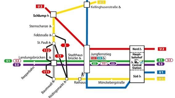 Hamburg Hauptbahnhof Karte.U3 Sperrung Bei Den Landungsbrücken Dauert Länger Ndr De