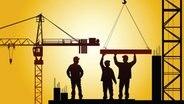 Arbeiter auf einer Baustelle © fotolia.com Foto: Alexey Klementiev