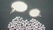 Sprechblasen mit Buchstaben © photocase Foto: knallgrün