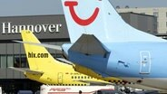 Flugzeuge am Airport Hannover © dpa