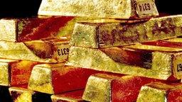 Ein Stapel Goldbarren © dpa Bildfunk Foto: Deutsche Bundesbank
