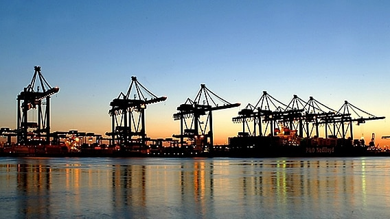 Container-Terminal Altenwerder im Hamburger Hafen © picture-alliance / dpa Foto: Soeren Stache