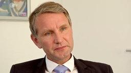 Björn Höcke während eines Interviews mit dem ZDF © ZDF/ heute.de
