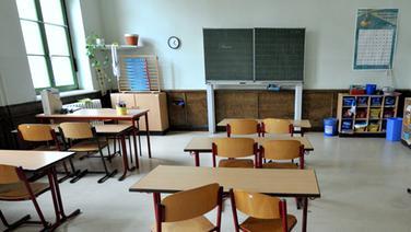 Leeres Klassenzimmer © dpa- report Foto: Peter Endig