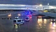 Vue depuis un avion de la Bundeswehr qui est arrivé à l'aéroport de Francfort. À bord se trouvent des personnes qui ont été rapatriées de Wuhan, en Chine. Photo: Ann-Sophie Muxfeldt