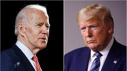Die US-Präsidentschaftskandidaten Joe Biden und Donald Trump © dpa Foto: ROURKE SEMANSKY