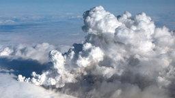 Aschewolke nach Vulkanausbruch in Island © dpa Foto: Arni Saeberg