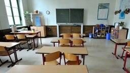 Leeres Klassenzimmer © dpa- report Fotograf: Peter Endig