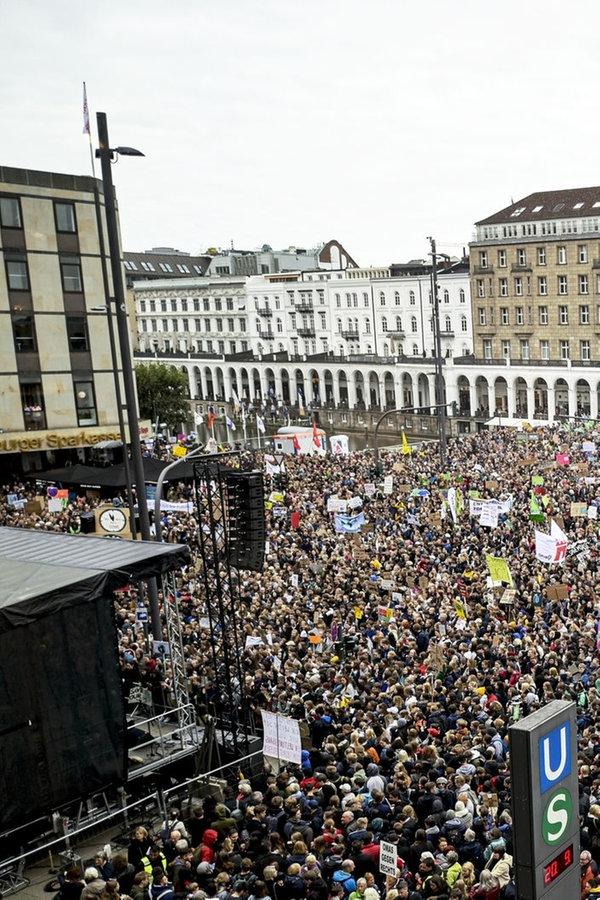 Klima-Demos im Norden: 50.000 in Hamburg