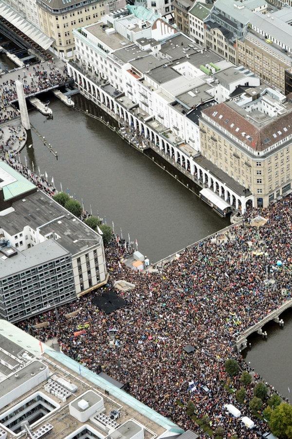 Klima-Demos im Norden: 70.000 in Hamburg