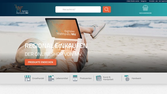 "Screenshot des Onlineportals ""digitalesmv"" © NDR"