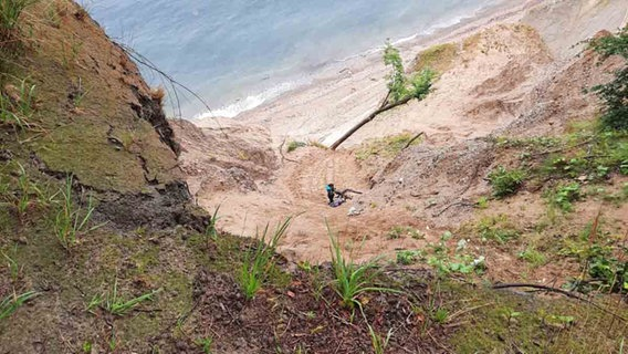 Rettung an der Steilküste