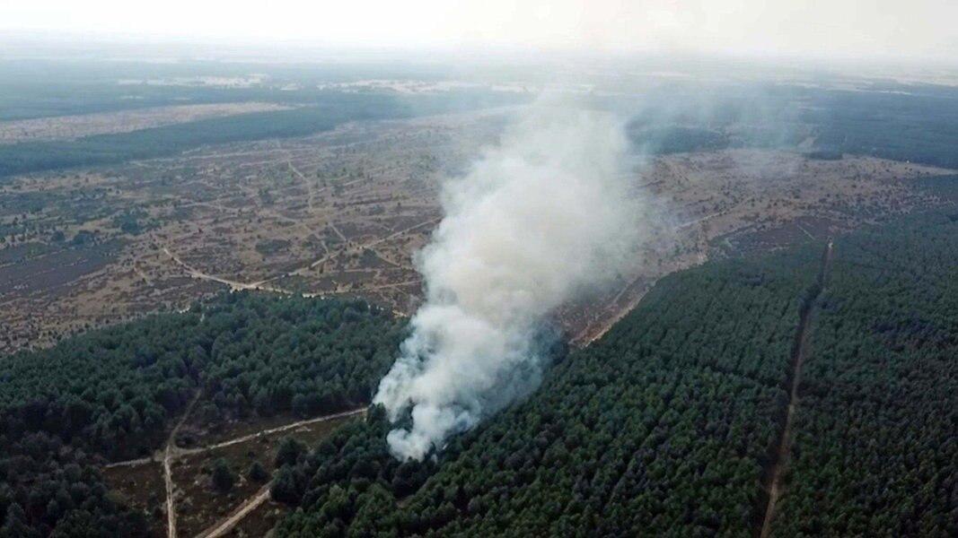 Lübtheen Waldbrand