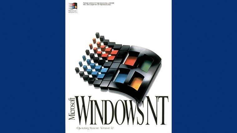 Die Packung von Microsoft Windows NT © Microsoft