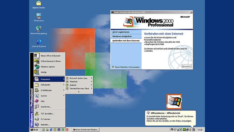 Die Screenshot von Microsoft Windows 2000 © Microsoft