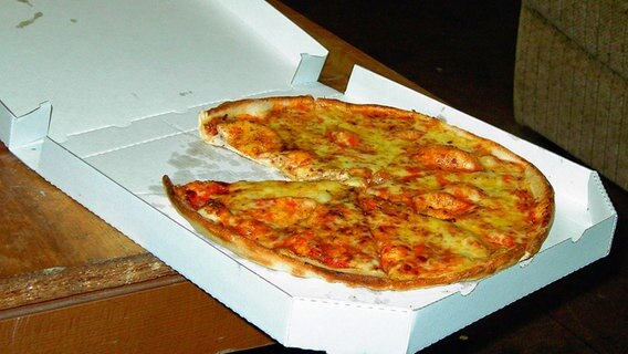 """Pizza in Karton"" von Yoshi"" Lizenziert unter CC BY-SA 3.0 über Wikimedia Commons - https://commons.wikimedia.org/wiki/File:Pizza_in_Karton.jpg#/media/File:Pizza_in_Karton.jpg © Yoshi unter CC BY-SA 3.0"