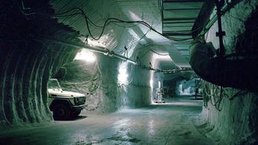 Ein unterirdischer Gang im Bergwerk Asse. © Bundesamt für Strahlenschutz