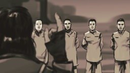Zeichnung von IS-Kämpfern.