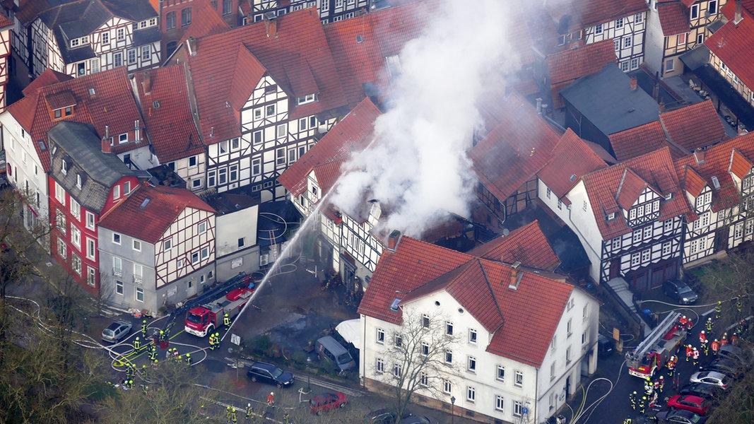 Hann. Münden: Löscharbeiten nach Großbrand abgeschlossen