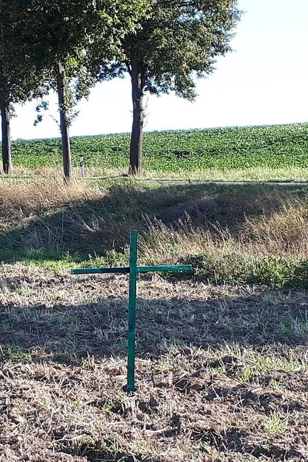 Grüne Kreuze: Bauern protestieren gegen Agrarpaket