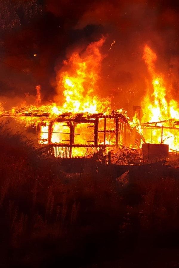 Feuer zerstört Schützenhaus in Hann. Münden