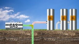 Grafik, die die Funktionsweise der Fracking-Methode zur Erdgasförderung darstellt © fotolia/NDR
