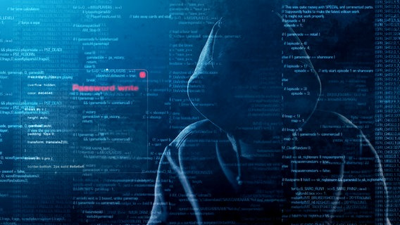 Schattenriss einer Person mit Computercodes © Fotolia.com Foto: Glebstock