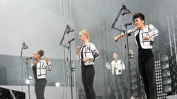 Die Band Laing bei der IdeenExpo. © NDR Foto: Axel Herzig