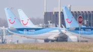 Tui-Flugzeuge am Hannover Flughafen. © dpa Bildfunk Foto: Julian Stratenschule