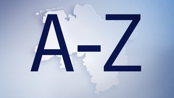 Letters A to Z in front of the map of Lower Saxony © Fotolia.com Photo: Alois