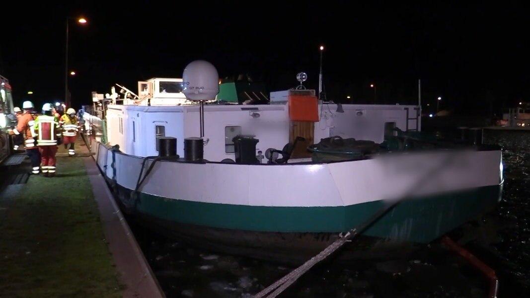 Scharnebeck: Frachtschiff sinkt nach Leck leicht ab | NDR ...