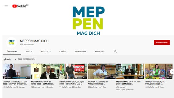 Ein Screenshot der Youtube-Seite Meppen Mag Dich. © Screenshot Foto: Screenshot