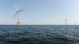 "Der Offshore-Windpark ""Alpha Ventus"" © dpa-Bildfunk Foto: Ingo Wagner"